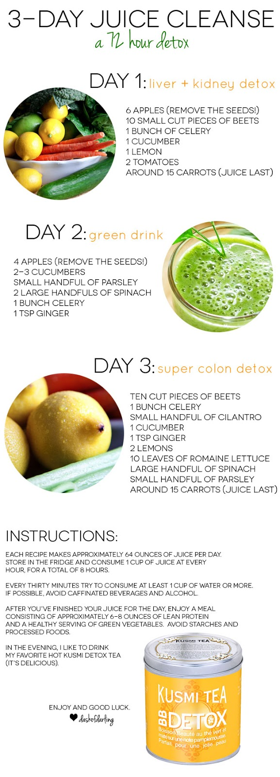 Three Day Juice Cleanse Dash Of Darling