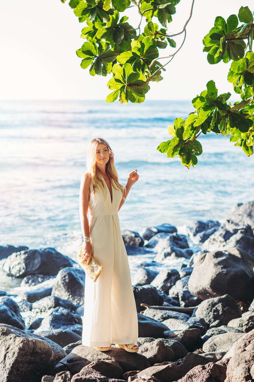 Caitlin Lindquist of Dash of Darling celebrates her fourth wedding anniversary at the beautiful St. Regis Princeville Kauai beach resort