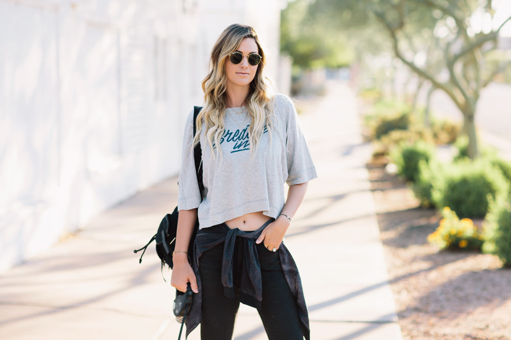 Dash of Darling styles Lucy Activewear for running errands in a casual athleisure outfit.