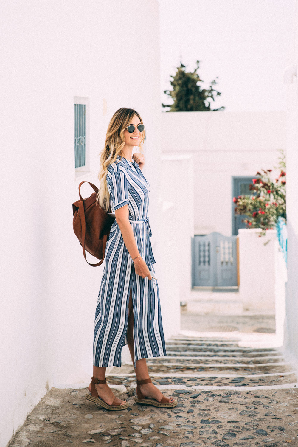 Caitlin Lindquist of the fashion and travel blog, Dash of Darling, shares her adventures in Pyrgos, Santorini Greece with Royal Caribbean Cruises in September.