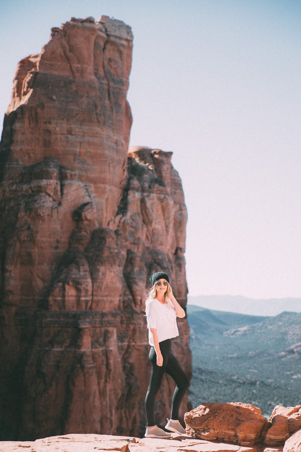 dash of darling shares her adventures hiking cathedral rock in sedona, arizona