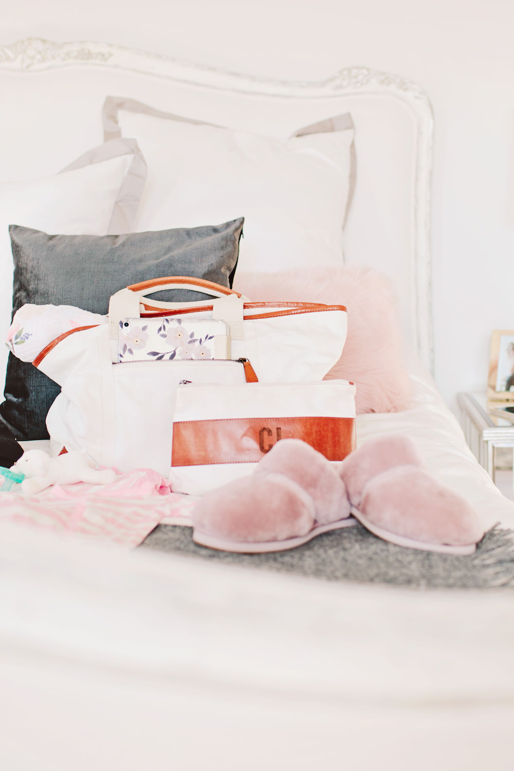 What to pack in your hospital bag for labor and delivery for mama and baby by Dash of Darling