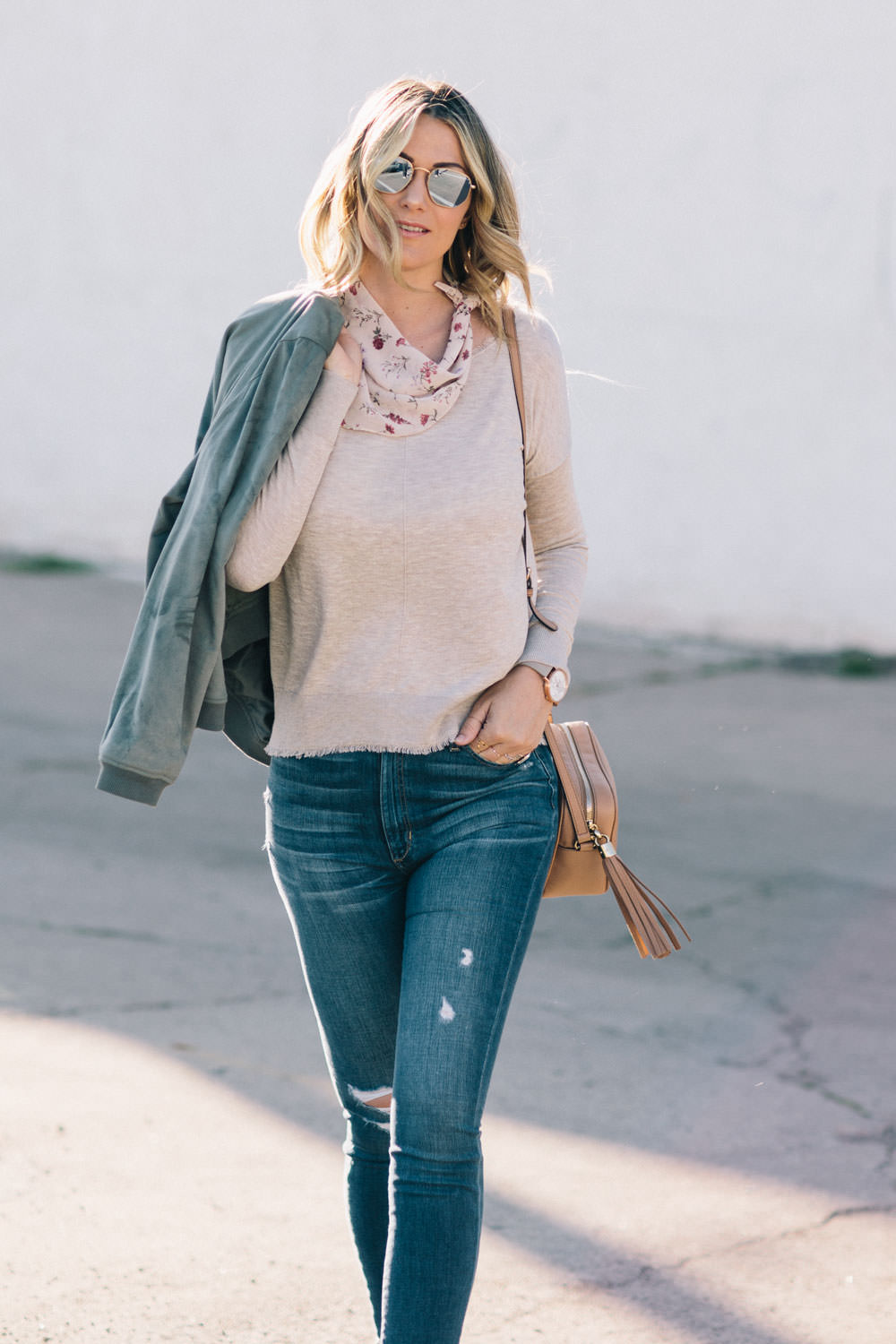 Dash of Darling styles a spring transition outfit with Stitch Fix