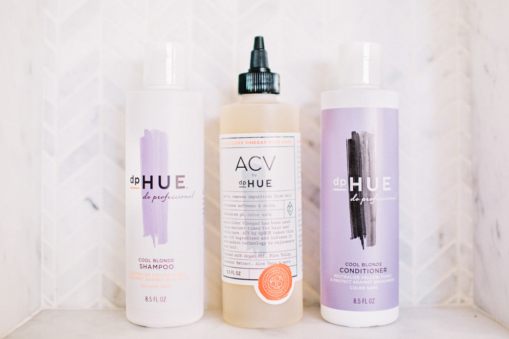 Dash of Darling shares how to keep your hair cool blonde with dphue blonding shampoo and conditioner