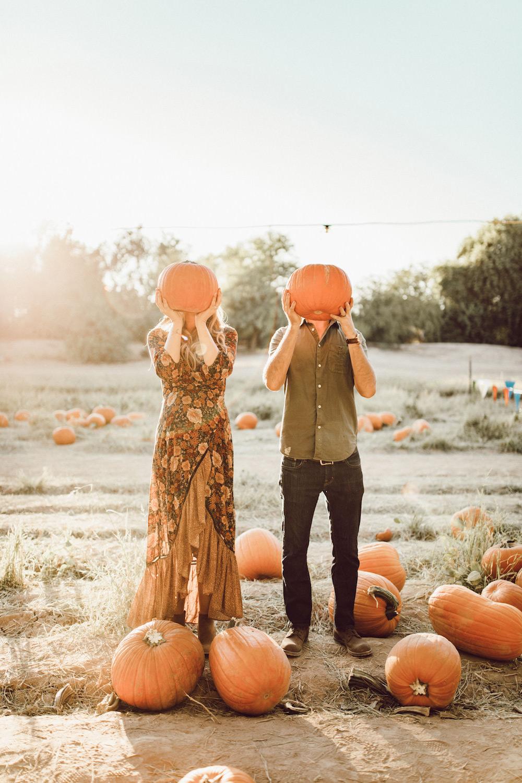 Dash of Darling | Pumpkin Patch Maternity Photos
