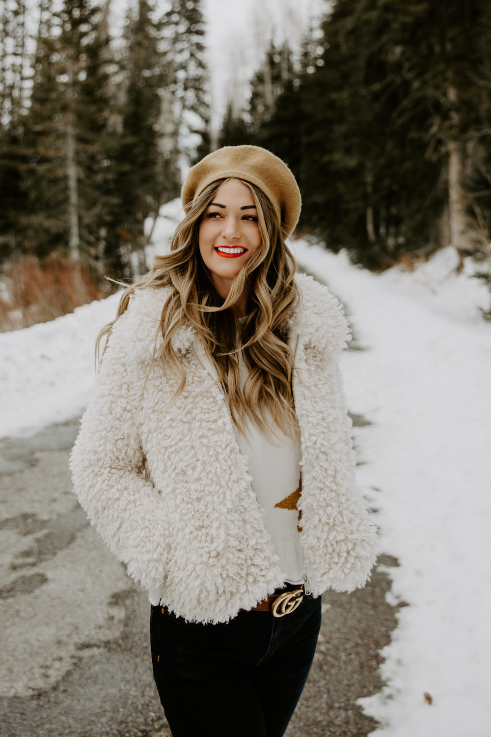 Dash of Darling | Fluffy Coat Winter Outfit