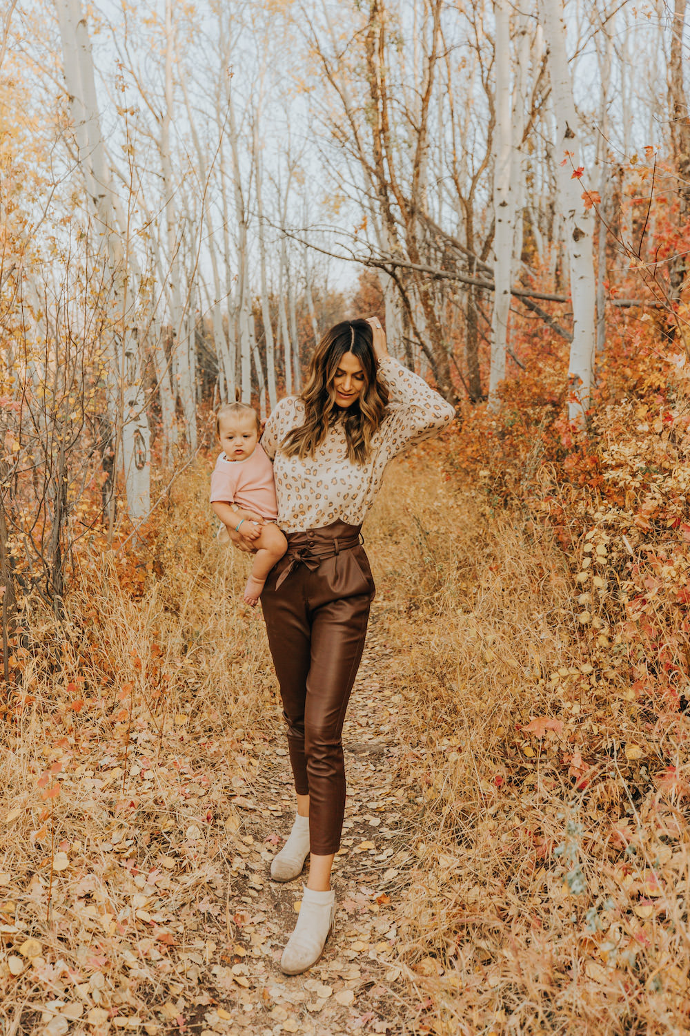 Dash of Darling | Fall Brown Leather Pants